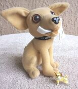 Yo Quiero Taco Bell Chihuahua Dog Plush Here Lizard.. Godzilla 1998 +a Keychain0