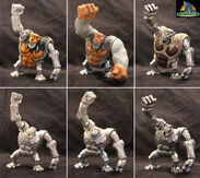 TRENDMASTERS Unreleased Animated Godzilla the Series Yeti Prototypes x 3
