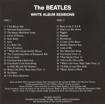 White album sessions back