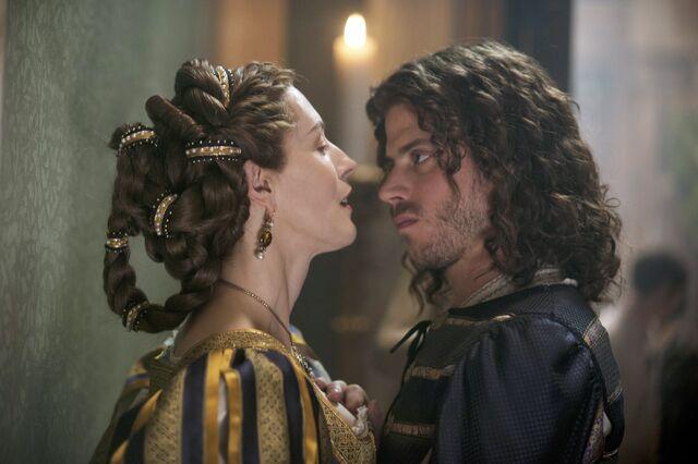 File:012 Siblings episode still of Catherina Sforza and Cesare Borgia.jpg