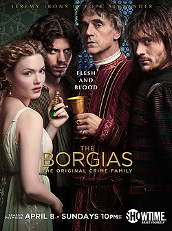File:003 Season two promo photo of Lucrezia Borgia, Cesare Borgia, Rodrigo Borgia and Juan Borgia 250px.png