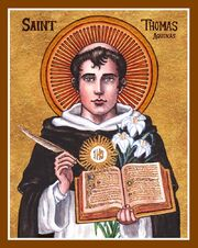 St thomas aquinas icon by lordshadowblade-d5t99rt
