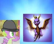 Spike and Spyro Purple Dragon Bros