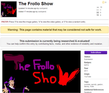 The Frollo Show in KYM