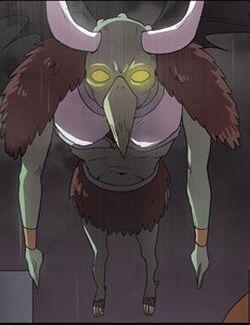 Humanoid Horned Bird