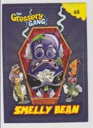 Smelly bean sticker card