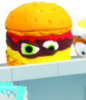 Prototype horrid hamburger figure