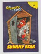 Skummy bear sticker card