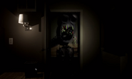 A screenshot of Bonnie swiftly closing the door