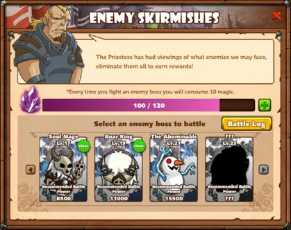 Enemy Skirmishes Window