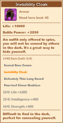 Dark Outfit - Invisiblity Cloak 40 full
