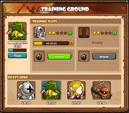Training slots