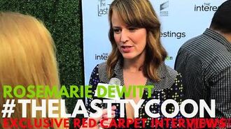 Rosemarie DeWitt interviewed at Sony Pictures Social Soiree for The Last Tycoon AmazonPilots