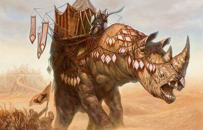 Giant rhinoceros