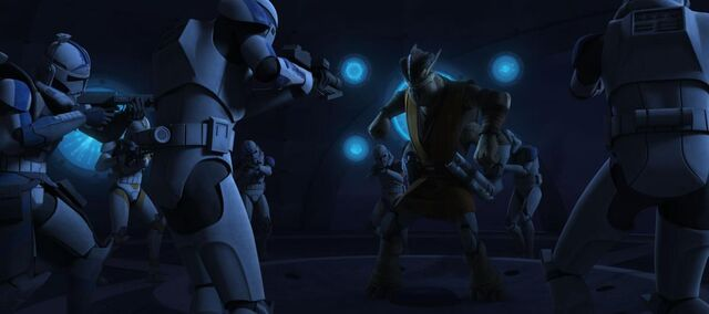 File:Booster and the Battalion try and arrest Krell.jpg