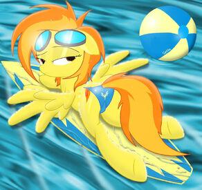Spitfire on her surfboard in a bikini by spitshy-d4tksrq