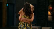 Stephanie and michelle hug