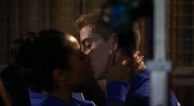 Thalia and eldon kiss
