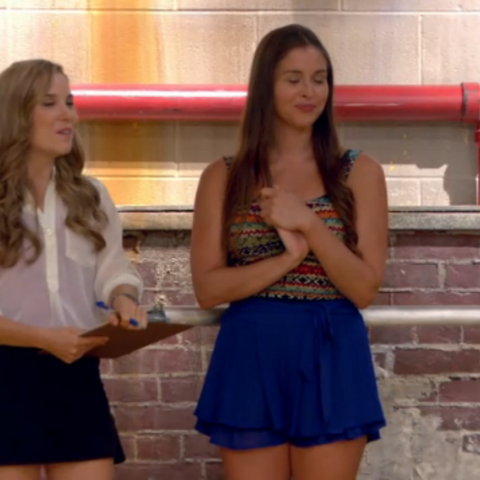 Phoebe smiles after the auditions for the <a href=