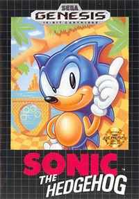 Sonic the Hedgehog 1 Genesis box art