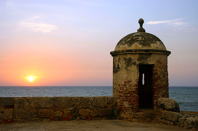 File:Sunset in Cartagena Colombia.png