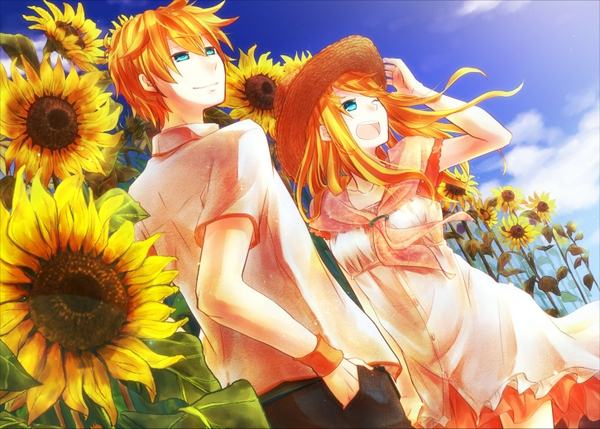 Anime boy with orange hair