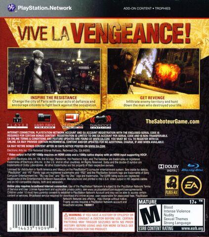 File:The Saboteur Playstation 3 back cover.jpg