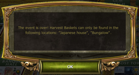 Harvest Festival Event Complete notification