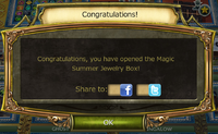 Bonfire Update Jewelry box complete notification
