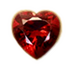 C581 Jewels of the depths i04 Garnet heart
