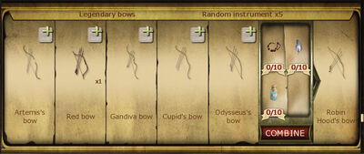Collection 220 Legendary bows cropped