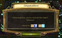 The Legend Returns Quest Complete Notification