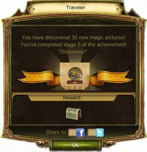 Traveler Award information box