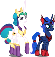 Celestia s and luna s evil counterparts by xebck-d8isf29