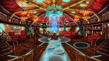 Steampunk tardis interior console room by wonderwig-d63nkf3