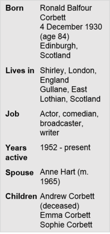 Ronnie Corbett Fact File