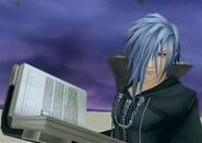Zexion with the Tome of Judgement