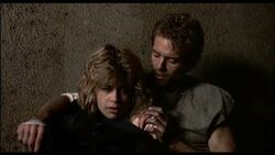 Sarah Connor and Kyle Reese