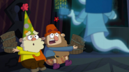 S1e17a grumpy says they're looking for the queen's buckets