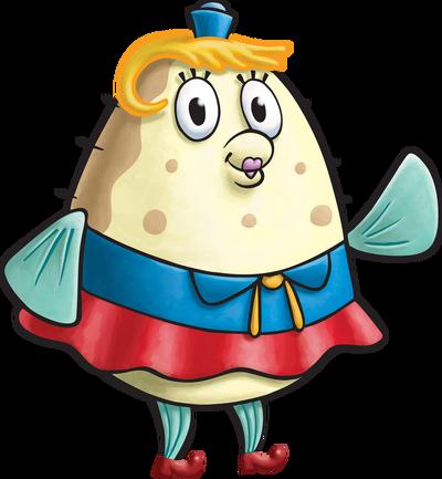 SpongeBob SquarePants Mrs. Puff Character Image Nickelodeon Painted Version