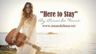 "Clip of ""Here to Stay"" by Amanda Fama"