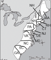 12 original colonies