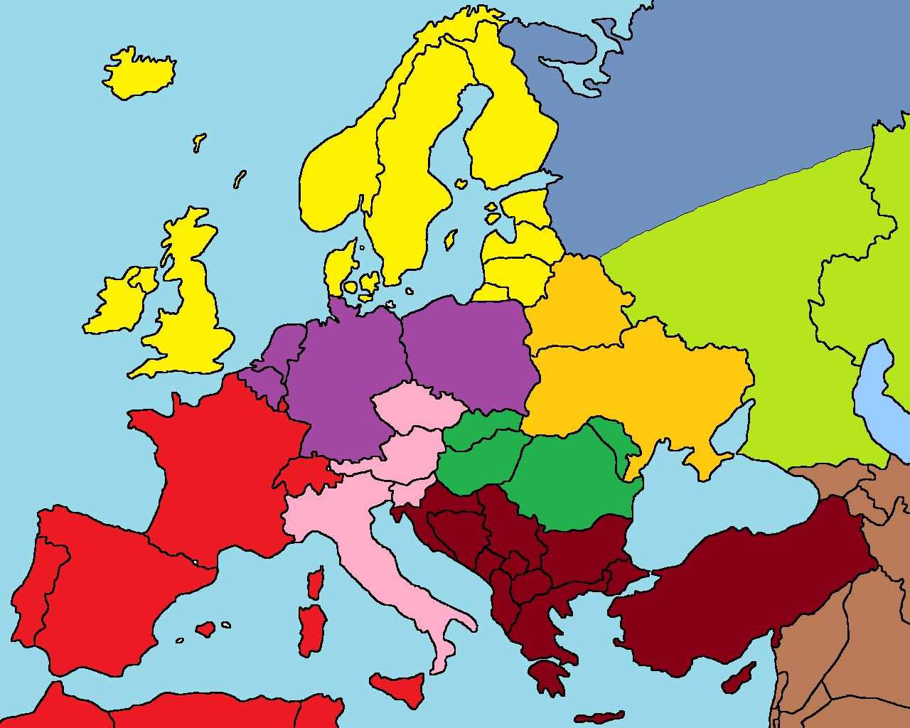 Image Blank Europe Mapjpg The Antarctic Alliance Wiki - Europe blank map