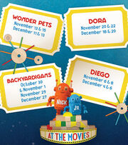 Nick Jr. at the Movies November-December Schedule