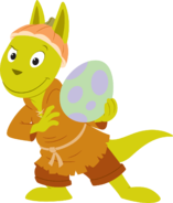 The Backyardigans Dragon Austin Grabbing Goblin Green