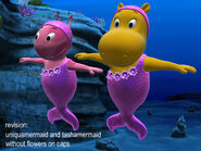 The Backyardigans Mermaids Uniqua and Tasha Model Sheet