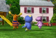 The Backyardigans Backyard in the 2002 Animated Pilot