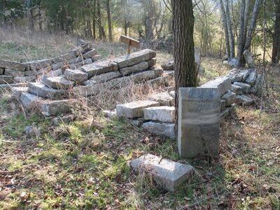 Flat Creek Cemetery, J. J. Hurst stone