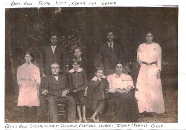 File:William Jefferson and Izora Reavis Cleek Family.jpg