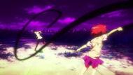 Misaka fighting Tom